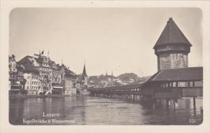 Switzerland Luzern Kapellbruecke & Wasserturm Photo
