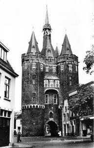 Zwolle Nederland Netherlands~Sassenpoort~Gate & Street View~Palthe~Vintage RPPC