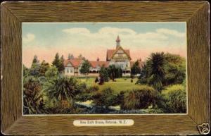 new zealand, ROTORUA, New Bath House (1910s)
