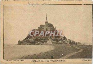 Old Postcard The Abbey of Mont Saint Michel