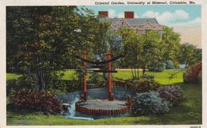 Missouri Columbia Oriental Garden University Of Missouri 1949 Curteich