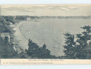 Pre-1907 BEACH SCENE New Haven Connecticut CT A3651