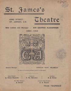The Big Drum St James Theatre 1915 WW1 Comedy Arthur Pinero Programme
