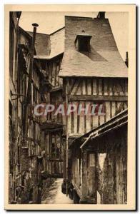 Old Postcard La Douce France Au Havre De Rouen Caudebec-en-Caux Vieilles Mais...