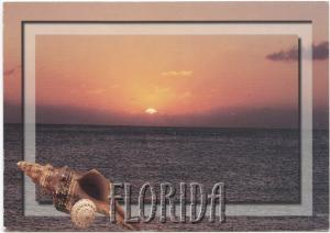 Florida, Sunset, used Postcard