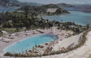 ST. THOMAS, Virgin Islands, PU-1953; Virgin Isle Hotel, Swimming Pool, Overlo...