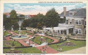Italian Garden and Marble Fountain Richard Massey Residence Birmingham Alabam...