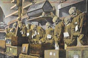 Rare Vintage 1930s Catacombe dei Capuccini Palermo, Sicily, Capuchin Monks