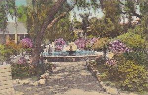 Mission Garden and Fountain Old Mission San Juan Capistrano California Handco...