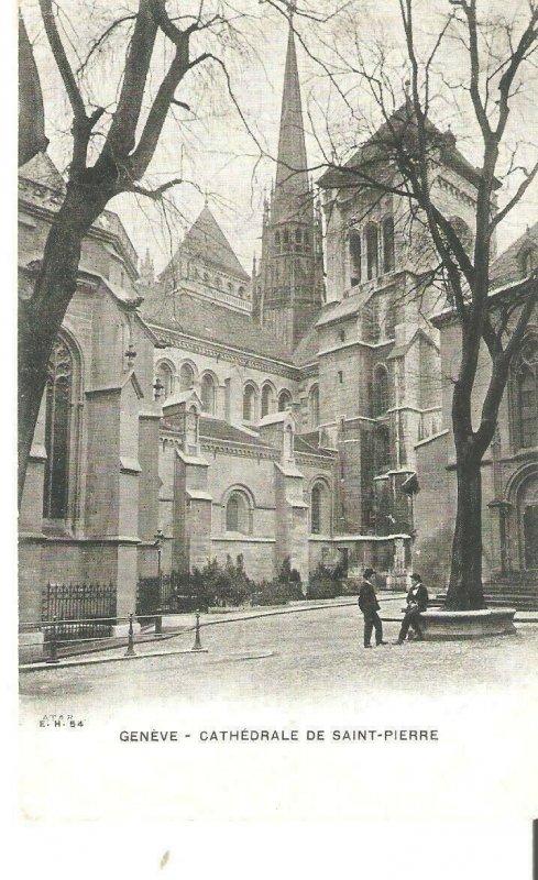 E00069 switzerland geneve saint pierre cathedral before 1904
