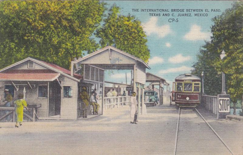International Bridge , JUAREZ , Mecico , 30-40s