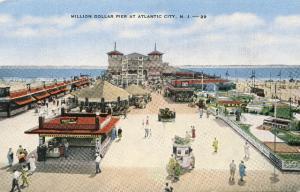 Million Dollar Pier Atlantic City NJ Vintage E C Kropp Linen