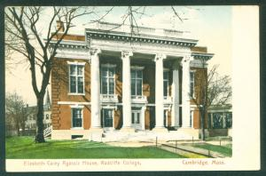 Elizabeth Carey Agassiz House Racliffe College Cambridge MA UDB Postcard