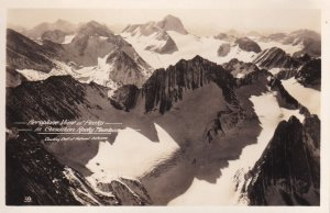RP; BRITISH COLUMBIA, Canada, 1920-1940s; Aeroplane View Of Peaks In Canada R...