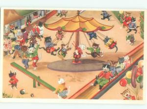 Pre-1980 Mainzer Cats ON THE MERRY-GO-ROUND AC6714