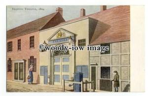 tq2333 - Berks - An Artists Impression of the Reading Theatre in 1804 - Postcard