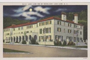 North Carolina Lake Lure Inn By Moonlight