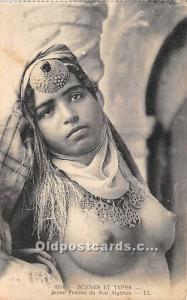 Arab Nude Postcard Jeune Femme du Sud Algerien Unused