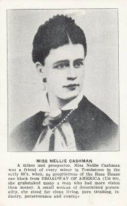 RP: TOMBSTONE , Arizona , 1930-40s ; Female Miner Miss Nellie Cashman