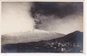RP, Aerial View, Volcano, Taormina (Sicily), Italy, 1920-1940s