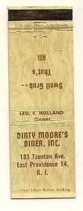 East Providence, Rhode Island/RI Matchcover, Dinty Moore'...