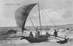 Sri Lanka Ceylon Fishing Boat Bateau Schiff