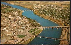 Saskatchewan Aerial View only part of SASKATOON Chrome 1950s-1970s