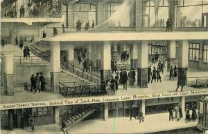 Hudson Tunnels Terminal 1908 New York Subway Postcard Mezzanine 4701