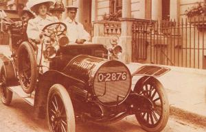 Postcard Nostalgia c1907 Miss Isabel Jay In Her Spyker Car Reproduction Card