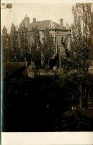 Vintage Real Photo Post Card 1909 RPPC Ross Seminary Washington State