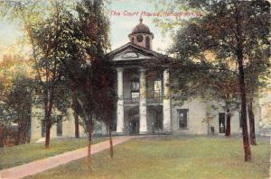 Henderson Kentucky Court House Street View Antique Postcard K80915