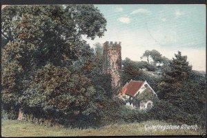 Wales Postcard - Gumfreystone Church   A5448