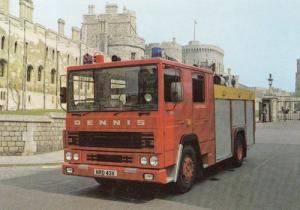 Dennis RS Fire Appliance Engine Postcard