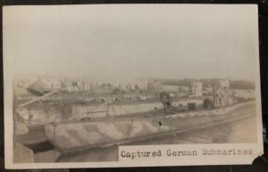 Mint USA Real Picture Postcard Captured German Submarine U Boats