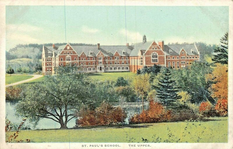 CONCORD NEW HAMPSHIRE~ST PAUL'S SCHOOL-THE UPPER~1920s PHOSTINT POSTCARD