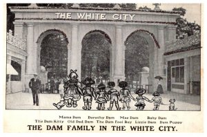 London  ,The Dam family in White City