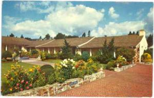 Santa Cruz City Hall and Spanish Gardens, California, CA, pre-zip code Chrome