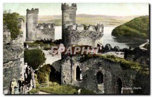 Postcard Old Conway Castle