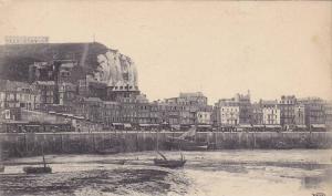 Le Port A Maree Basse Et La Falaise d´Aval, Le Treport (Seine Maritime), Fra...