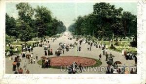 Centre Ave., Belle Isle Park Detroit MI 1904 Missing Stamp