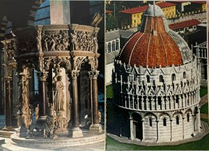 The Baptistery and the Pulpit of the Cathedral by Giovanni Pisano Postcard