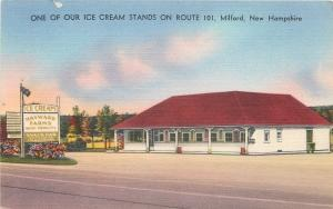 Milford New Hampshire~Hayward Farms~Ice Cream Stand~Frankfurters~1940s Linen PC