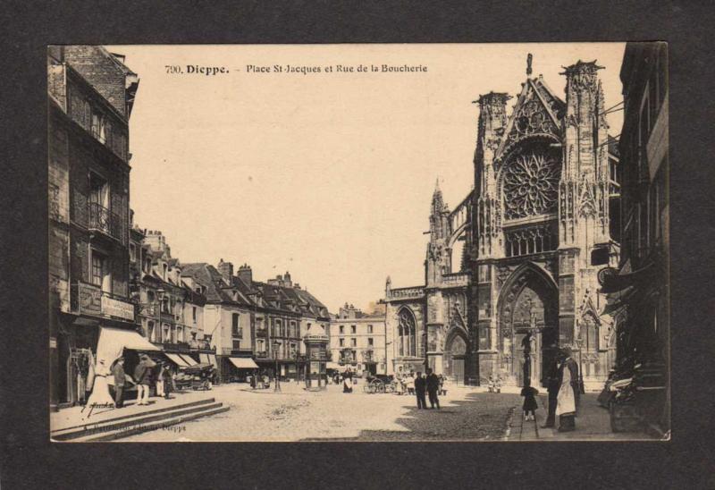 FRANCE Dieppe Place St Jacques Rue de La Boucherie French Postcard Carte Postale