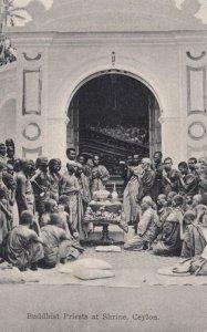 Buddhist Priests at Shrine , CEYLON , 00-10s