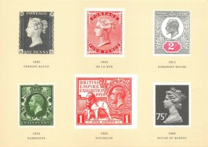 Postcard 1984 National Stamp Day, British Stamp Printers 1840-1980 BR2