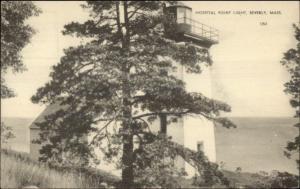 Beverly MA Hospital Point Lighthouse Postcard