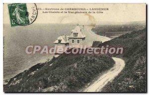 Old Postcard Cherbourg Landemer Chalets And The Vue Generale De La Cote