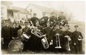 Stonington ME 1908 Band Musical Instruments Drums RPPC Postcard