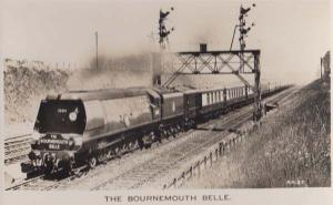 The Bournemouth Belle 35015 Train  near Basingstoke Station Real Photo Postcard
