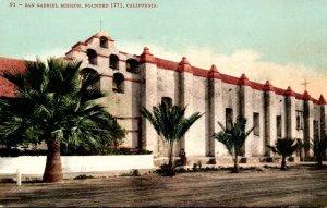 California San Gabriel Mission Founded 1771 1907